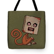 Psycho Sack Monkey Tote Bag by John Schwegel