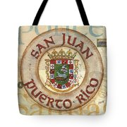 Puerto Rico Coat Of Arms Tote Bag by Debbie DeWitt