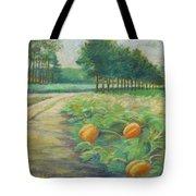 Pumpkin Patch Tote Bag by Leslie Alfred McGrath