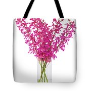 Purple Orchid In Vase Tote Bag by Atiketta Sangasaeng