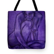 Purple Tote Bag by Thomas Valentine