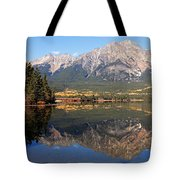 Pyramid Mountain And Pyramid Lake 2 Tote Bag by Larry Ricker