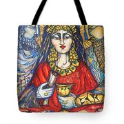 Queen Esther Tote Bag by Rae Chichilnitsky