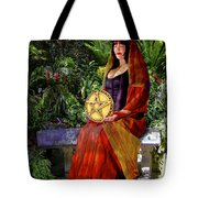 Queen Of Pentacles Tote Bag by Tammy Wetzel