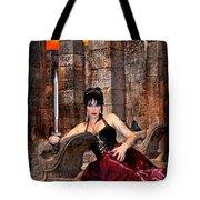 queen of Swords Tote Bag by Tammy Wetzel