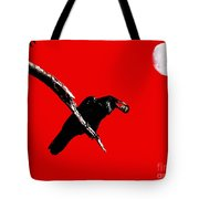 Quoth The Raven Nevermore . Red Tote Bag by Wingsdomain Art and Photography