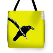 Quoth The Raven Nevermore . Yellow Tote Bag by Wingsdomain Art and Photography