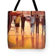 Rain In Manhattan Number Eighteen Tote Bag by Tate Hamilton