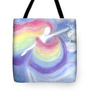 Rainbow Goddess Tote Bag by Cassandra Geernaert