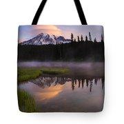 Rainier Lenticular Sunrise Tote Bag by Mike  Dawson