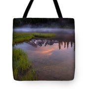 Rainier Sunrise Cap Tote Bag by Mike  Dawson