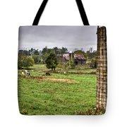 Rainy Day On The Farm Tote Bag by Douglas Barnett