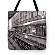 Randolph Street Station Chicago Tote Bag by Steve Gadomski