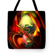 Raw Fury Abstract Tote Bag by Alexander Butler