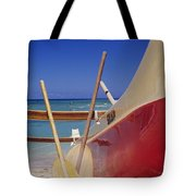 Red And Yellow Canoe Tote Bag by Joss - Printscapes