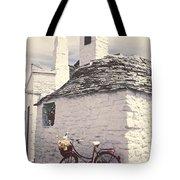 Red Bicycle Tote Bag by Joana Kruse
