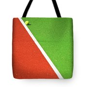Red Green White Line And Tennis Ball Tote Bag by Silvia Ganora