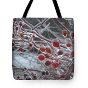 Red Ice Berries Tote Bag by Kristine Nora