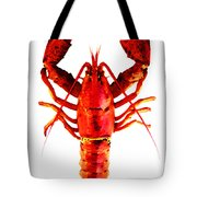 Red Lobster - Full Body Seafood Art Tote Bag by Sharon Cummings