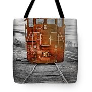 Red Locomotive Tote Bag by James BO  Insogna