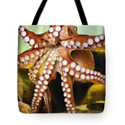 Red Octopus Tote Bag by Marilyn Hunt