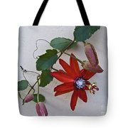 Red On White Tote Bag by Heiko Koehrer-Wagner