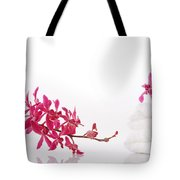 Red Orchid With Towel Tote Bag by Atiketta Sangasaeng