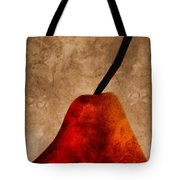 Red Pear III Tote Bag by Carol Leigh