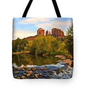 Red Rock Crossing Three Tote Bag by Paul Basile