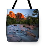 Red Rock Sunset Tote Bag by Mike  Dawson