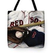 Red Sox number nine Tote Bag by Jack Skinner