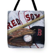 Red Sox Number six Tote Bag by Jack Skinner