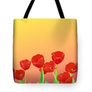 Red Tulips Tote Bag by Kristin Elmquist