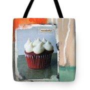 Red Velvet Cupcake Tote Bag by Linda Woods