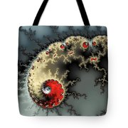 Red Yellow Grey And Black - Amazing Mandelbrot Fractal Tote Bag by Matthias Hauser