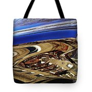 Reflection On A Parked Car 11 Tote Bag by Sarah Loft