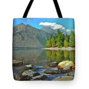 Reflections Glacier National Park  Tote Bag by Michael Peychich