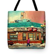 Restaurant Greenspot Deli Hotdogs Tote Bag by Carole Spandau