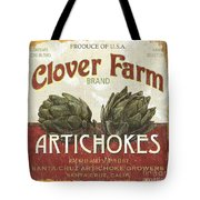 Retro Veggie Labels 1 Tote Bag by Debbie DeWitt