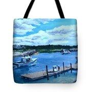 Returning To Sesuit Harbor Tote Bag by Jack Skinner