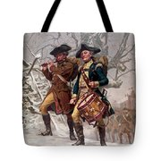 Revolutionary War Soldiers Marching Tote Bag by War Is Hell Store