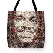 Rg3 Redskins History Mosaic Tote Bag by Paul Van Scott