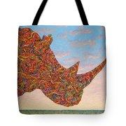 Rhino-shape Tote Bag by James W Johnson