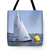 Rhodes 18 Rounding The Mark Tote Bag by Charles Harden