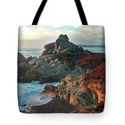 Ribera Beach Sunset Carmel California Tote Bag by Charlene Mitchell