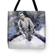 Rock And Roll Music Chuk Berry Tote Bag by Yuriy  Shevchuk