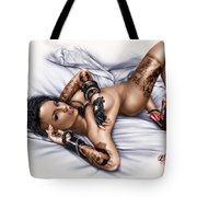 Rock N Rolla Tote Bag by Pete Tapang