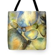 Rocks And Feather Tote Bag by Marlene Gremillion