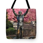 Rocky In Spring Tote Bag by Bill Cannon