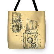 Rolleiflex Medium Format Twin Lens Reflex Tlr Patent Tote Bag by Edward Fielding